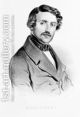 Portrait of Gaetano Donizetti 1797-1848 Italian composer by Carel Christian Anthony Last - Reproduction Oil Painting