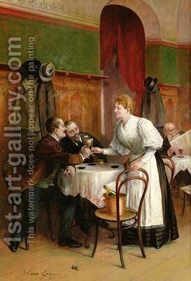 Drinking their health by Hans August Lasser - Reproduction Oil Painting