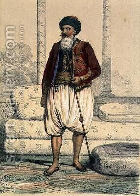 Hussein Pacha 1765-1838 the Last Dey of Algiers in 1830 by (after) Lassalle, Louis - Reproduction Oil Painting