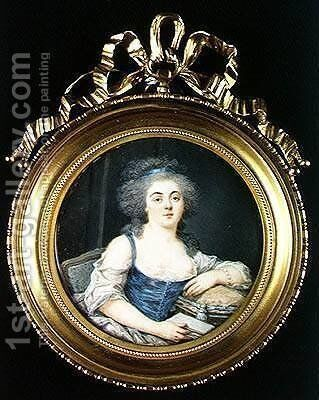 Louise Marie Therese Mathilde dOrleans 1750-1822 Duchess of Bourbon by Andre Leon (Mansion) Larue - Reproduction Oil Painting