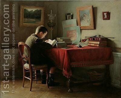 The Studious schoolboy by Guillaume Larrue - Reproduction Oil Painting