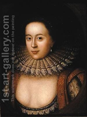 Portrait of Frances Howard 1590-1632 Countess of Somerset by (attr. to) Larkin, William - Reproduction Oil Painting