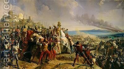 Th Battle of Montgisard by Charles-Philippe Lariviere - Reproduction Oil Painting