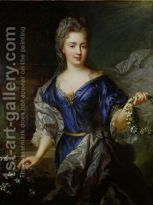 Marie-Anne de Bourbon 1666-1739 by (after) Largilliere, Nicholas de - Reproduction Oil Painting
