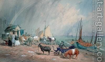 Brighton Beach by James Large - Reproduction Oil Painting