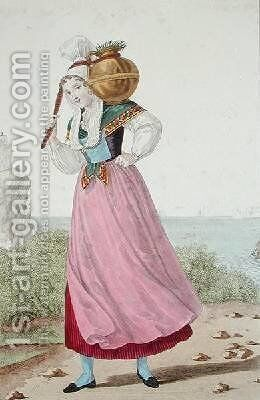 Dairymaid of the Cherbourg region by (after) Lante, Louis-Marie - Reproduction Oil Painting
