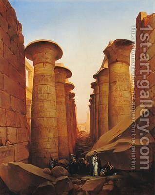The Great Temple of Amun at Karnak by Jean-Charles Langlois - Reproduction Oil Painting