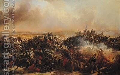 The Battle of Sebastopol by Jean-Charles Langlois - Reproduction Oil Painting