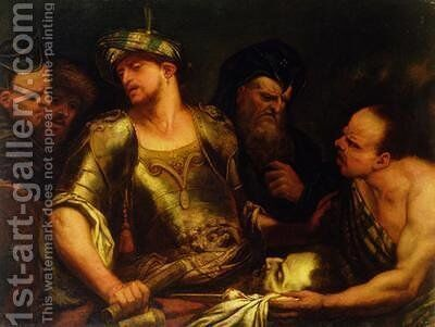 The Executioner Presents the Head of St John the Baptist to King Herod by Giambattista Langetti - Reproduction Oil Painting