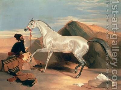 Arab Stallion by Sir Edwin Henry Landseer - Reproduction Oil Painting