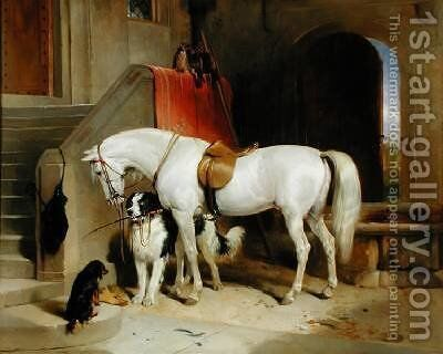 Prince Georges Favourites by Sir Edwin Henry Landseer - Reproduction Oil Painting