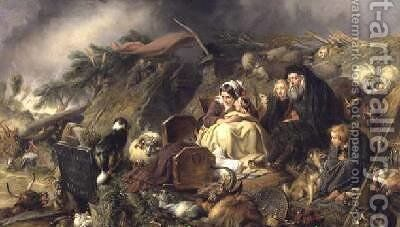 A Highland Flood by Sir Edwin Henry Landseer - Reproduction Oil Painting