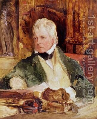 Portrait of Sir Walter Scott by Sir Edwin Henry Landseer - Reproduction Oil Painting