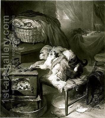 The Cats Paw 2 by Sir Edwin Henry Landseer - Reproduction Oil Painting
