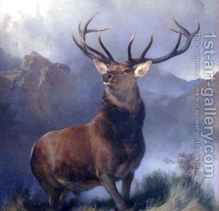 Monarch of the Glen 2 by Sir Edwin Henry Landseer - Reproduction Oil Painting