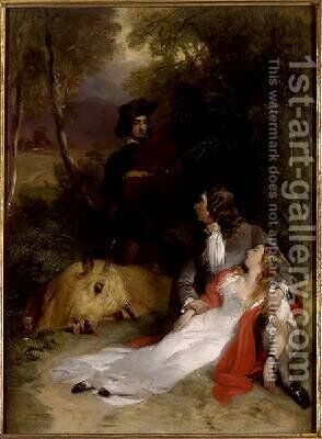 None But the Brave Deserve the Fair by Sir Edwin Henry Landseer - Reproduction Oil Painting