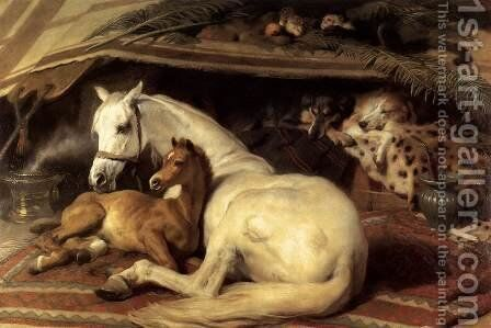 The Arab Tent by Sir Edwin Henry Landseer - Reproduction Oil Painting