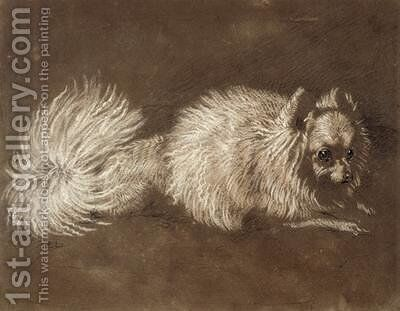 A Pomeranian Dog by Sir Edwin Henry Landseer - Reproduction Oil Painting