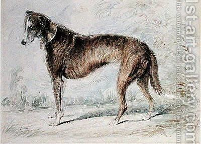 Lurcher by Charles Landseer - Reproduction Oil Painting