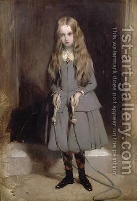 Lady Cecilia with skipping rope by Charles Landseer - Reproduction Oil Painting