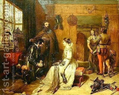 A Parting Benediction Speak Truly In The Knighthood And Thine Oath by Charles Landseer - Reproduction Oil Painting
