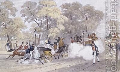 Edward Oxfords Attempt to Assassinate Queen Victoria and Prince Albert on Constitution Hill by (after) Landells, Ebenezer - Reproduction Oil Painting