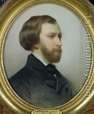 Portrait of Alfred de Musset 1810-57 2 by Charles Landelle - Reproduction Oil Painting