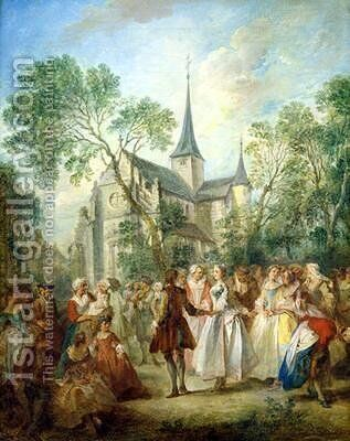 The Wedding Dance by Nicolas Lancret - Reproduction Oil Painting