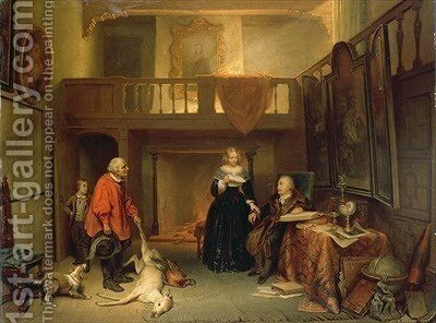 Paying the Tithe by Ary Johannes Lamme - Reproduction Oil Painting