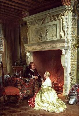 Figures in an Interior by Ary Johannes Lamme - Reproduction Oil Painting