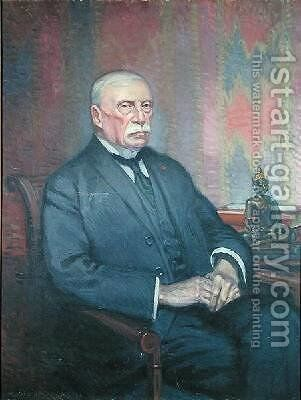 Auguste Pavie 1847-1925 by Maurice Walter Edmond de Lambert - Reproduction Oil Painting