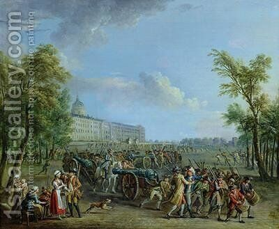 The Pillage of the Invalides by Jean-Baptiste Lallemand - Reproduction Oil Painting