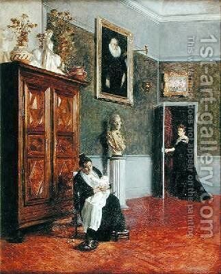 Interior by Alexis-Marie Lahaye - Reproduction Oil Painting
