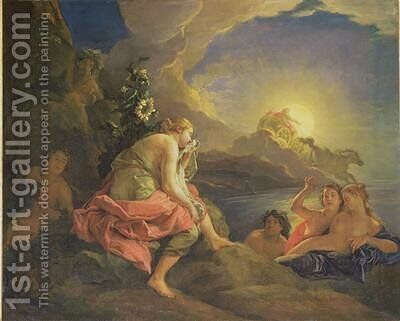 Clytie Transformed into a Sunflower by Charles de Lafosse - Reproduction Oil Painting