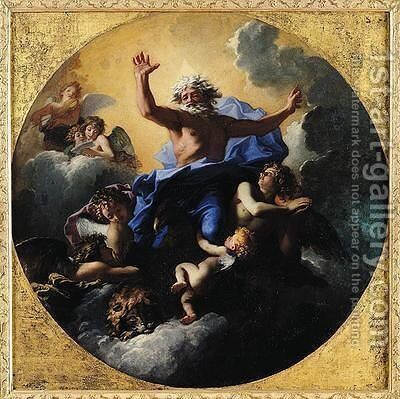 God the Father Carried by Angels by Charles de Lafosse - Reproduction Oil Painting