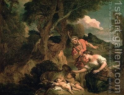 Romulus and Remus by Charles de Lafosse - Reproduction Oil Painting