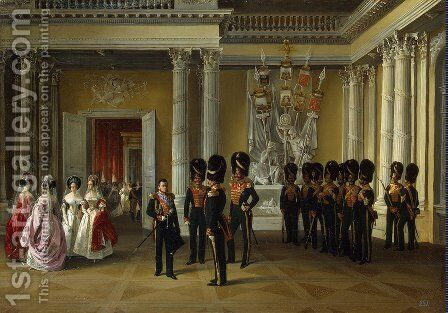 The Heraldic Hall in the Winter Palace St Petersburg by Adolphe Ladurner - Reproduction Oil Painting