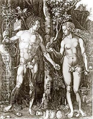 Adam and Eve by Johann Ladenspelder - Reproduction Oil Painting
