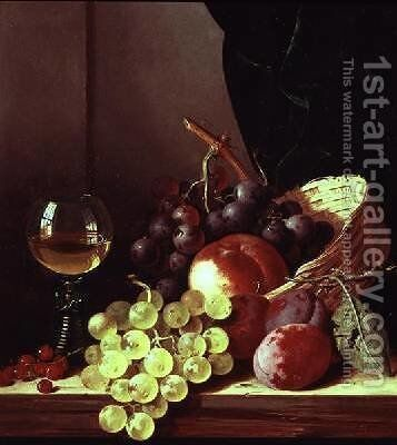 Grapes and plums by Edward Ladell - Reproduction Oil Painting