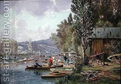 Bougival by Edme Emile Laborne - Reproduction Oil Painting