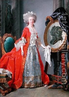 Madame Adelaide by Adelaide Labille-Guyard - Reproduction Oil Painting