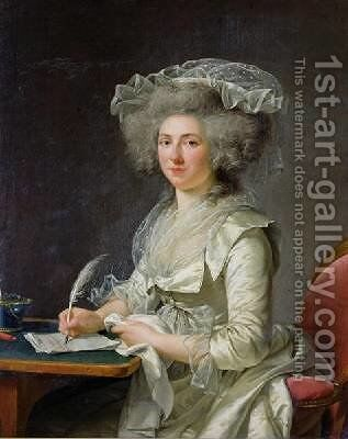 Portrait of a Woman by Adelaide Labille-Guyard - Reproduction Oil Painting