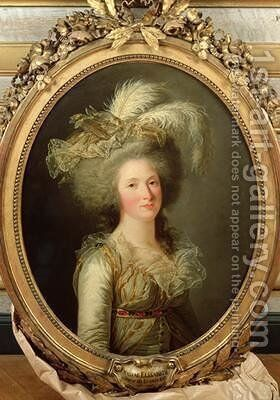Elisabeth of France 1764-94 called Madame Elisabeth by Adelaide Labille-Guyard - Reproduction Oil Painting
