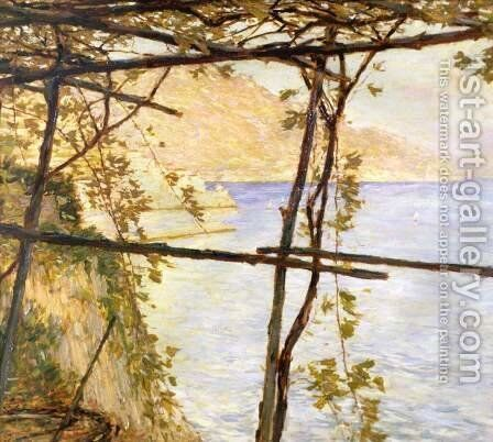 Trellised Vine by Henry Herbert La Thangue - Reproduction Oil Painting