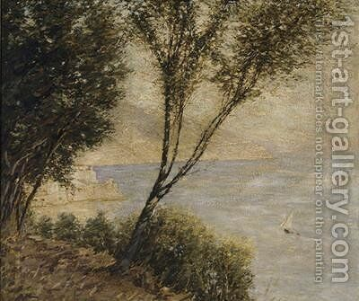 Italian Coast by Henry Herbert La Thangue - Reproduction Oil Painting