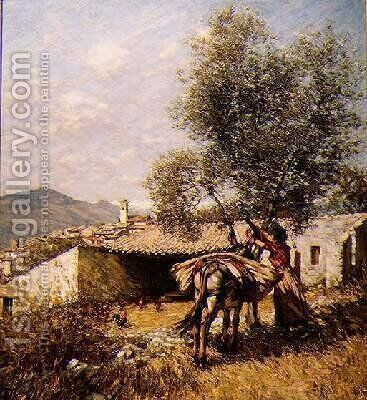The Donkey by Henry Herbert La Thangue - Reproduction Oil Painting