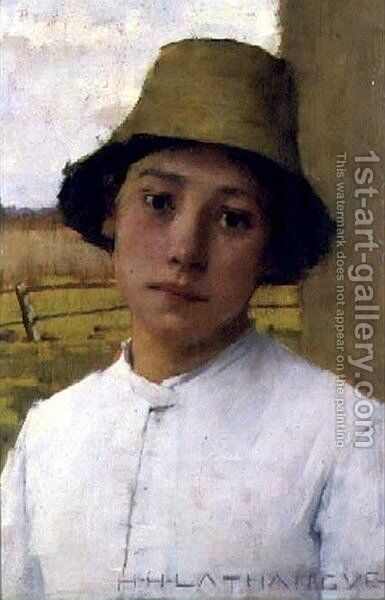 The Young Farmhand by Henry Herbert La Thangue - Reproduction Oil Painting