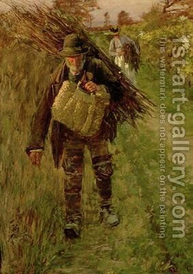 The Woodman by Henry Herbert La Thangue - Reproduction Oil Painting