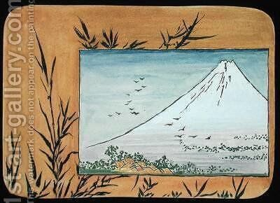 Fuji with Bamboo by Christopher Grant La Farge - Reproduction Oil Painting