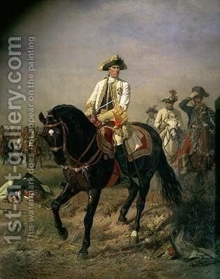 Field Marshal Baron Ernst von Laudon 1717-90 General in the Seven Years War and War of Bavarian Succession by Siegmund L'Allemand - Reproduction Oil Painting